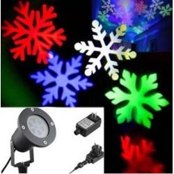 Laserové vánoční osvětlení - vločky