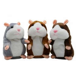 Interaktivní mluvící křeček Talking hamster - hnědý/šedý