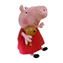 TY Inc. Meteor TY Beanie Babies Peppa Pig prasátko Pepina s medvídkem 15 cm