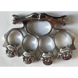 Boxer na ruku 4 lebky stříbrný