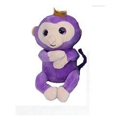 Plyšová opice Happy monkey fialová