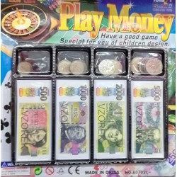 Hrací peníze - pokladna - mince a papírové peníze