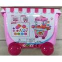HAPPY KITCHEN Dětská kuchyňka na kolečkách