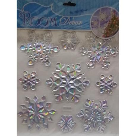 Vánoční dekorace na okno - SNĚHOVÁ VLOČKA 9 ks