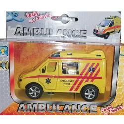Auto Ambulance, svíticí se zvukem, česky mluvící