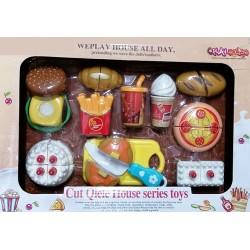 PLAY HOUSE Sada Fast food - krájení na suchý zip