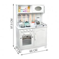 Malatec XL dřevěná kuchyňka KD4581 bílá