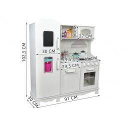 Malatec XXL dřevěná kuchyňka KD4582 bílá