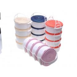 Plastový jídlonosič 4 patra, 4 x 1,5 l