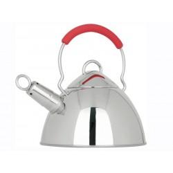 Smart Cook Čajová konvice 2500ml nerezová s červenou rukojetí