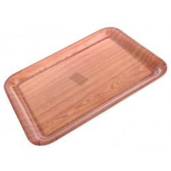 Plastový tác 38x28cm dřevo
