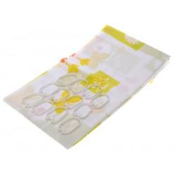 Elmich Home Koupelnový závěs 180x180cm Žlutá květina