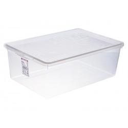 Úložný box 26x34x13,4cm plastový bílý