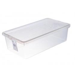 Úložný box 19x34x10cm plastový bílý