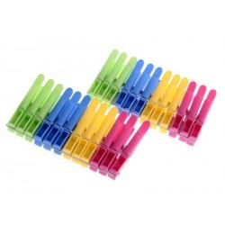 Kolíčky na prádlo 24 ks plastové multicolor
