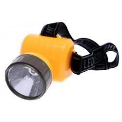 Elmich Home Čelová svítilna 8,5x9cm plastová žlutá