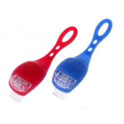 Světlo na kolo 2 ks modrá a červená