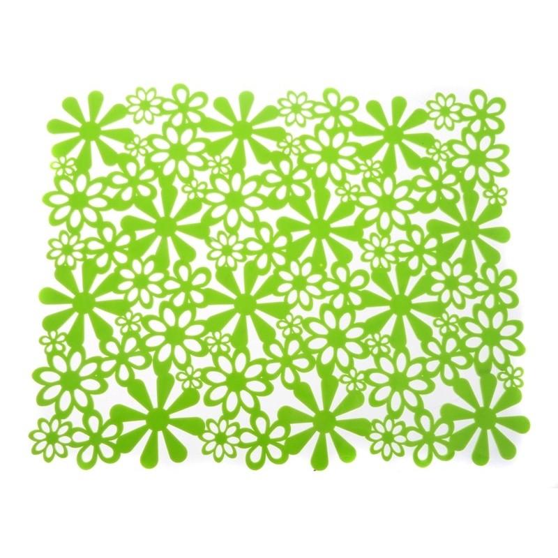 Podložka do dřezu KVĚTINA zelená
