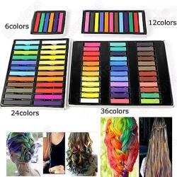 Barevné křídy na vlasy - Hair Chalk 24 ks