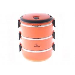Smart Cook Termo Jídlonosič 3 patrový - oranžový
