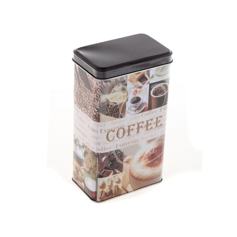 Dóza na kávu COFFEE kovová