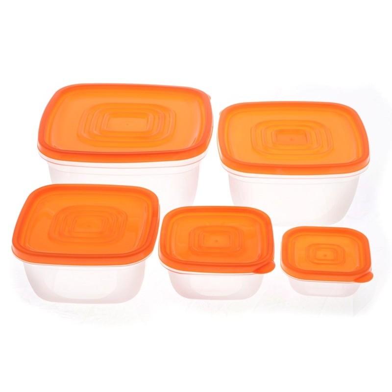 Smart Cook Plastová dóza hranatá oranžová