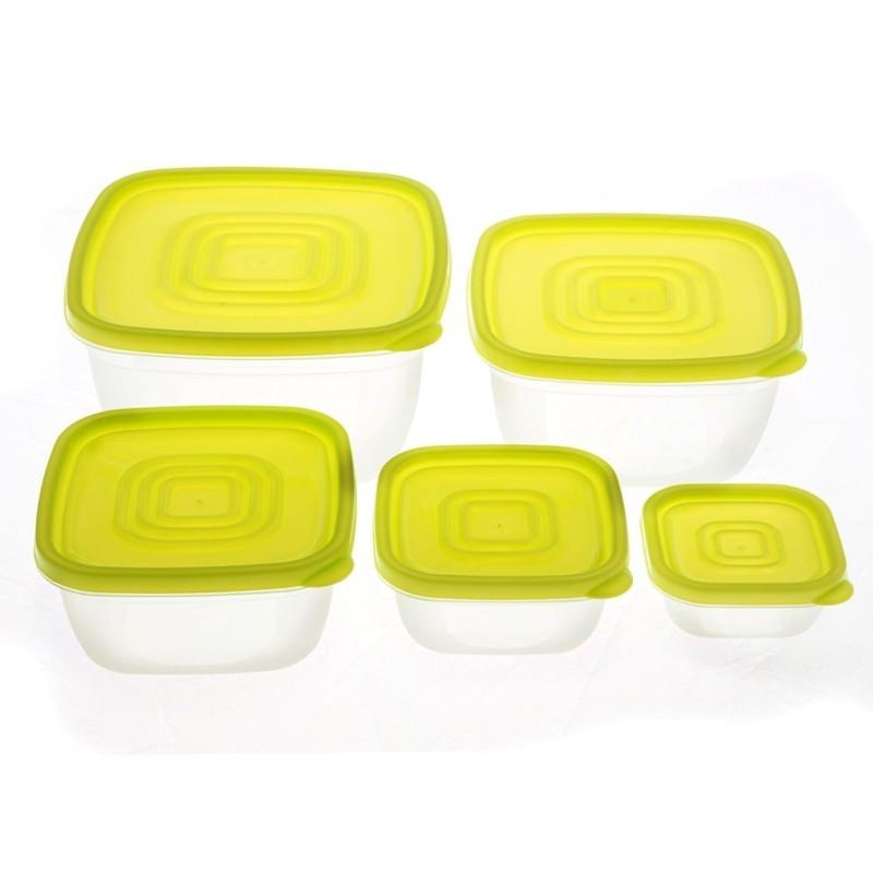 Smart Cook Plastová dóza hranatá zelená