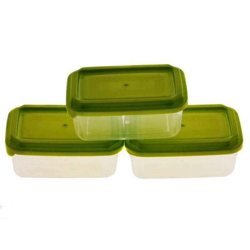Smart Cook Plastová dóza 3ks 7x11cm zelená
