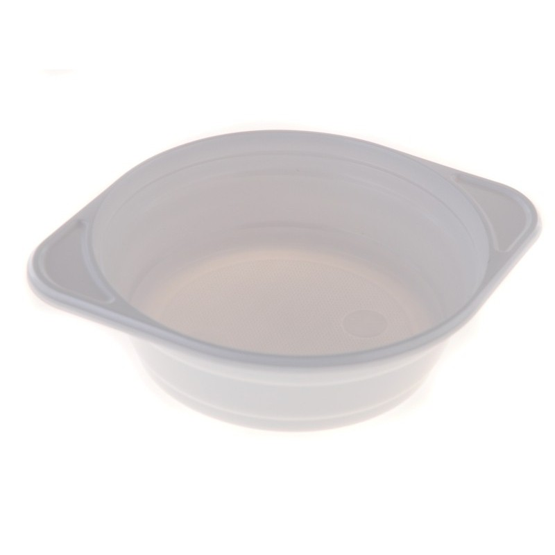 Plastová miska na polévku bílá 15cm 12ks