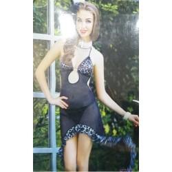 Sensual Black Leopard Erotické šaty