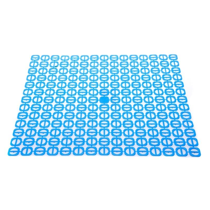 Podložka do dřezu čtvercová modrá