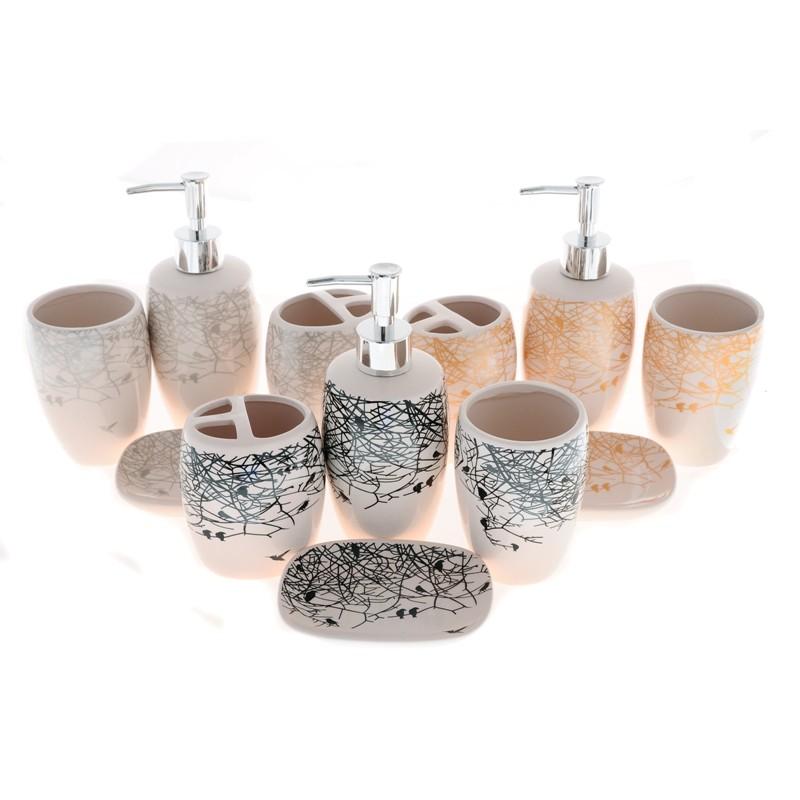 Elmich Koupelnová sada keramická Větvičky 4ks
