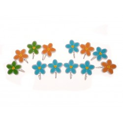 Unihouse Háčky samolepící květinky 4ks
