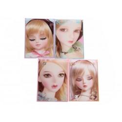 Unihouse Kosmetické zrcátko panenka 8,5x12cm