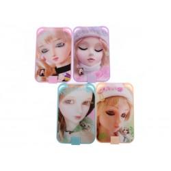 Unihouse Kosmetické zrcátko panenka oblé 8,5x12cm