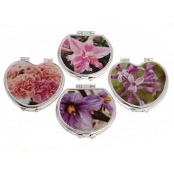 Unihouse Kosmetické zrcátko Květiny 7x7cm