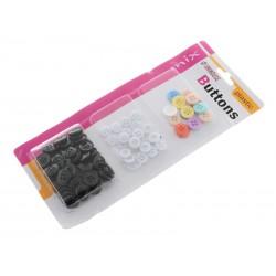 Unihouse Plastové knoflíky 80 ks