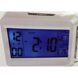Unihouse Digitální hodiny 11x15x6cm bílé