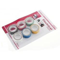 Unihouse Elektrikářská izolační páska PVC 1,7x2cm 6 ks