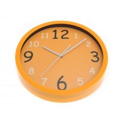 SmartHome Hodiny kulaté sklo/plast oranžové 26cm