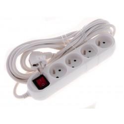 SmartHome Prodlužovací kabel s vypínačem bílý 5m