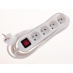 SmartHome Prodlužovací kabel s vypínačem bílý 3m