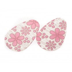 SmartShoes Silikonové vložky do bot růžová květina