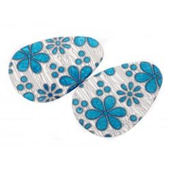 SmartShoes Silikonové vložky do bot modrá květina