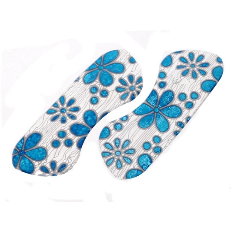 SmartShoes Silikonové vložky do bot modré květiny