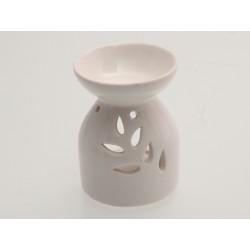 Keramická aroma lampa bílá - větev