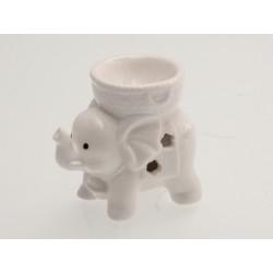 Keramická aroma lampa bílá - slon indický