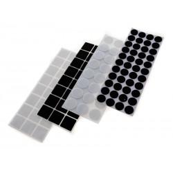 Unihouse samolepící filcové podložky černá, bílá