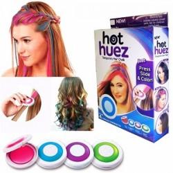 Křídové barvy na vlasy pro děti Hot Huez 4 ks