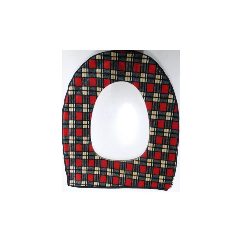 Potah na wc prkénko - červený čtverec